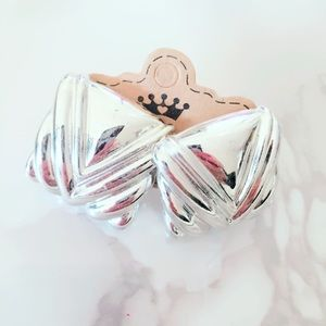 Silver Tone Square Vintage Pinup Earrings